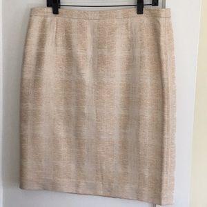 Tory Burch Devora sz14 pencil skirt ivory texture